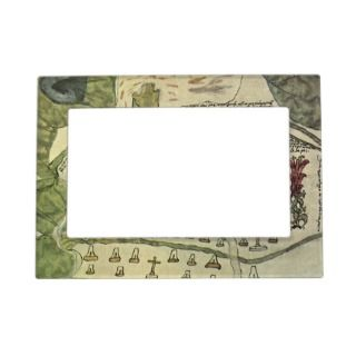 Old World Map Magnetic Frames, Old World Map Picture Frame Magnets