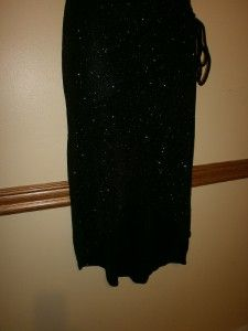 Jodi Kristopher One Shoulder Sexy Black Glitter Dress s Asymmetrical