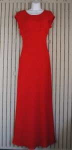 Jody California Evening Prom Party Red Full Length Dress