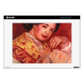 Young girl with fan by Pierre Renoir 13 Laptop Decal