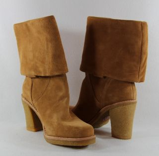 UGG Australia 3214 Suede Jodie Boots Chesnut Tall Convertible 7 5 New