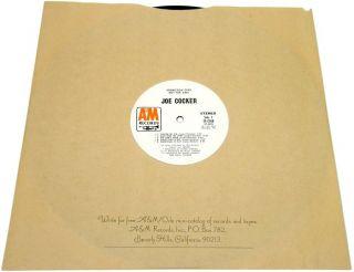 Joe Cocker 1972 White Label Promo LP Gatefold A M Records