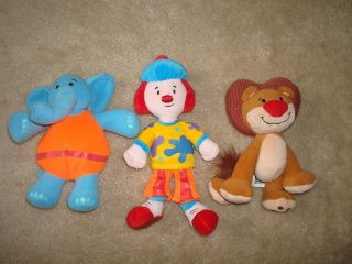 JoJos Circus JoJo Goliath Dinky Bendable Plush Toy Lot 6 8 Dolls
