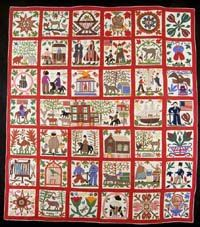 Jo Morton Lucindas Window Reconciliation Quilt Panel Civil War