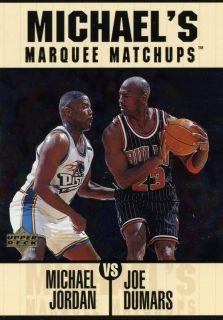RARE 97 98 UPPER DECK MICHAEL JORDAN CHICAGO BULLS MARQUEE MATCHUPS