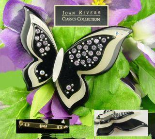 Joan Rivers Lavender CZ B w Butterfly Designer Plus Pin