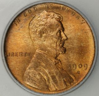 VDB ICG MS 65 RD Lincoln Wheat Cent Penny Red Key Date Gorgeous