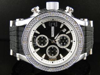 New Mens JoJo Jojino Joe Rodeo White Gold Finish Rubber 25 Diamond