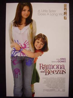 Ramona Beezus Movie Poster Selena Gomez Joey King