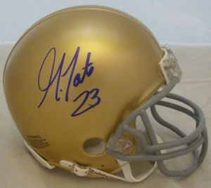 Golden Tate Autographed Signed Notre Dame Mini Helmet Seahawks