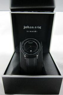 Johan Eric Mens JE2003 13 007 Hobro Black Dial Leather Wrist Watch