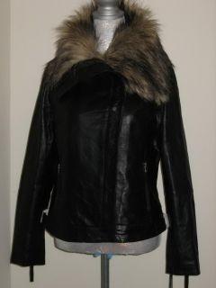 Bod Christensen Leather Motorcycle Jacket Womens Black