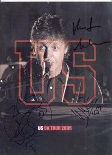 Paul McCartney Band Signed 2005 US Tour Program