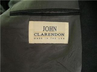 John Clarenden Gray Wool Two Button Blazer Sport Coat Suit Jacket 40R