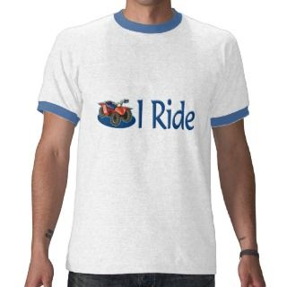 ATV Four Wheeling I Ride Blue Shirt