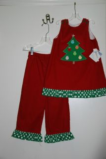 Bailey Boys Christmas Tree Applique Angel Dress 4T