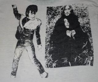RARE Vintage John Lennon Beatles T Shirt 1970s S