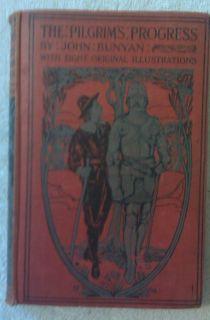 The Pilgrims Progress John Bunyan Illustrated 1915 Hardcover Book Good
