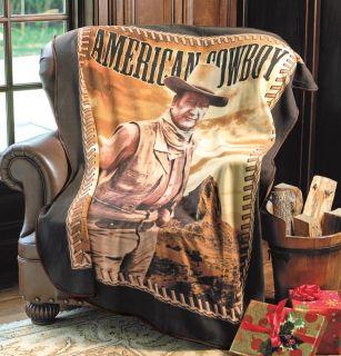 John Wayne Fleece Throw Blanket Western Hero Cowboy Holiday Couch