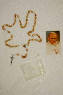 2nd Class Relic Rosary of Blessed Pope John Paul II JP Worlds Best