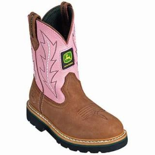 John Deere Boots Johnny Poppers Pink Crazy Horse Wellington Boots 10 M