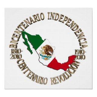 Mexicos Bicentennial & Centennial Celebration Posters