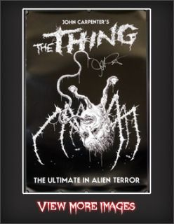 Edition RARE The Thing Poster Signed by John Carpenter