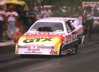 John Force 1994 Castrol Flamed Chevy Lumina Nitro Funny Car Photo