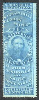 Dr John Bull Bitters Tax Stamp Scott RS43A