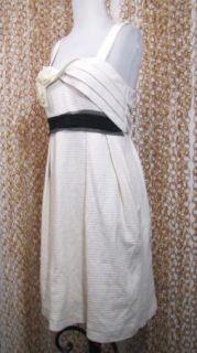 Deletta Anthropolgie Womens Fabulous Textured Ivory Cotton Party Dress