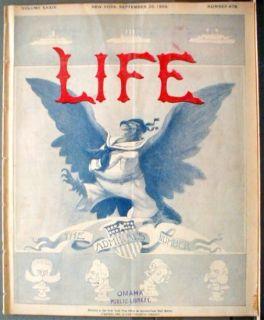 1899 Admiral Dewey American Bald Eagle Flag Complete