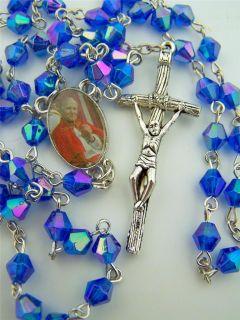 Pope John Paul II Acrylic Sapphire 6MM Bead Catholic Daily Prayer