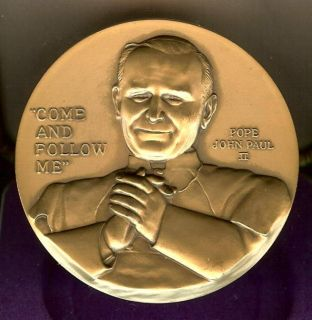 Pope John Paul II Bronze for Knights Columbus 460 GR 3 by 1 4 Thick