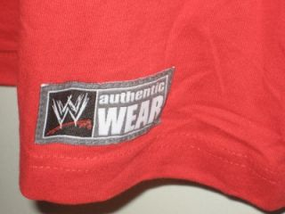 New WWE WWF Wrestling John Cena Never Give Up Red Cenation Mens Shirt