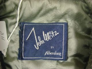 Vtg John Weitz by Aberdeen Satl & Pepper Jacket Coat USA Made Ideal