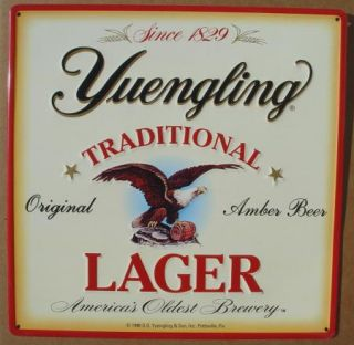 Yuengling Lager Beer Metal Tin Sign NICE Pottsville PA Bar Pub