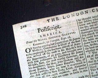 1779 Newspaper John Paul Jones Battle of Stono Ferry Revolutionary War Carolinas