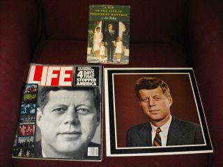 John F Kennedy Memorial Album Diplomat Records 20th Anniversary Life Magazine