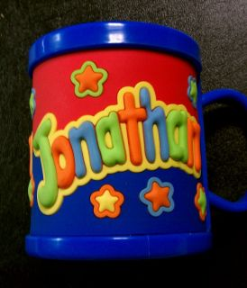 NEW John Hinde Plastic Trainers Drink Cup Mug Kids Personalized Name Jonathan