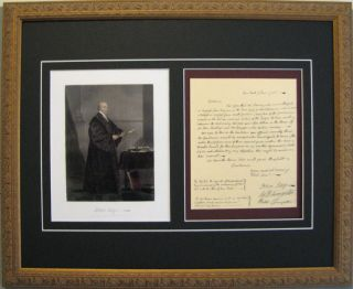 John Jay Judge Signed Letter 1785 Framed Reprint