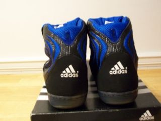 NWT ADIDAS ADISTRIKE JOHN W SMITH WRESTLING SHOES MENS SIZE 15 BLACK WHITE BLUE