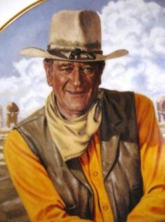 John Wayne Rugged Horseman Franklin Heirloom Collector Plate Robert Tanenbaum