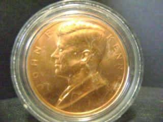 JOHN F KENNEDY 33mm copper unc MEDAL lot CP30