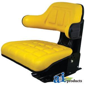 John Deere Tractor Wrap Around Seat w Armrests Yellow A TY24763