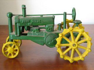 VINTAGE John Deere OP Cast Iron Toy Tractor