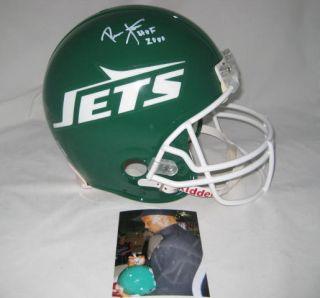 RONNIE LOTT signed NEW YORK JETS Proline Helmet w HOF