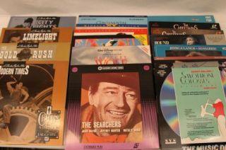 Lot of 18 LASERDISC Movies CHARLIE CHAPLIN JOHN BELUSHI JOHN WAYNE MORE