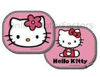 Hello Kitty Car Sun Shades Qty 2 Sunshades Side or Rear Window Storage Bag