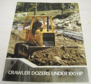 John Deere 1988 Model 400G 650G Crawler Dozers Brochure
