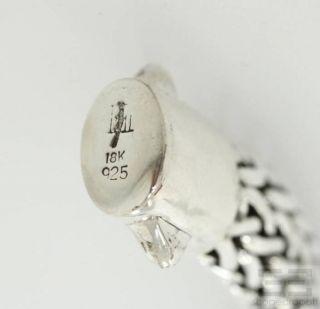 John Hardy Sterling Silver 18K Yellow Gold Amethyst Woven Bracelet